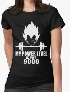 my power level over 9000 Womens Fitted T-Shirt