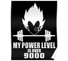 my power level over 9000 Poster