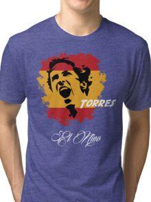SPAIN FERNANDO TORRES WC 14 FOOTBALL T-SHIRT Tri-blend T-Shirt