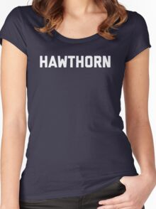 Hawthorn - white block letters Women's Fitted Scoop T-Shirt
