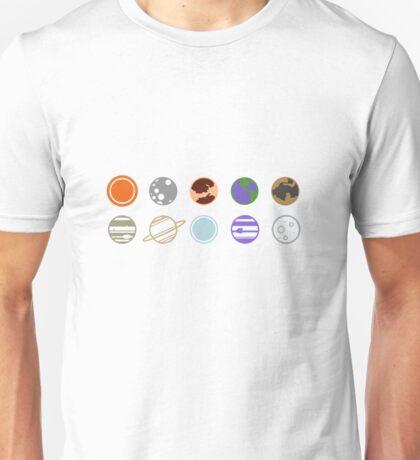 mimilist planets Unisex T-Shirt
