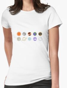 mimilist planets Womens Fitted T-Shirt