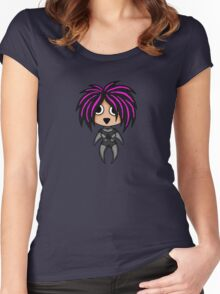 Kawaii Anime Chibi Women's Fitted Scoop T-Shirt