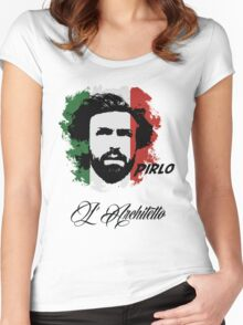 ITALIA ANDREA PIRLO WC 14 FOOTBALL T-SHIRT Women's Fitted Scoop T-Shirt