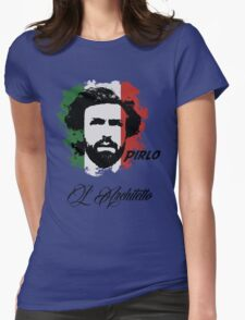 ITALIA ANDREA PIRLO WC 14 FOOTBALL T-SHIRT Womens Fitted T-Shirt