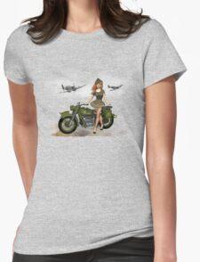 Spitfire Pin Up Art Womens Fitted T-Shirt