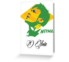 BRAZIL NEYMAR JR. WC 14 FOOTBALL T-SHIRT Greeting Card