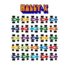 RALLY-X CLASSIC ARCADE GAME Photographic Print