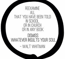 Rethink :: Whitman // I let go of what does not serve me by ZenRecoveryORG