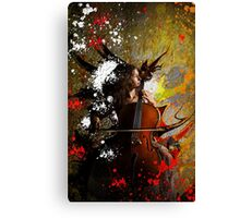 Cello Grunge Canvas Print