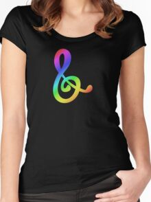 MLP - Cutie Mark Rainbow Special - Octavia Melody V3 Women's Fitted Scoop T-Shirt
