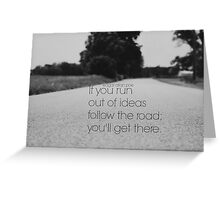 Edgar Allan Poe Road Greeting Card