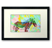 Zebra Art Framed Print