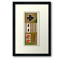 8 Bit Nintendo Camo controller Framed Print