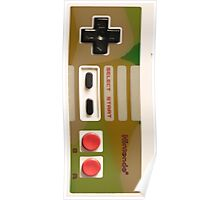 8 Bit Nintendo Camo controller Poster