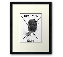 Real Men Knit ( Hoodie ) Framed Print