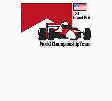 80´s MCLAREN WORLD CHAMPIONSHIP TEAM - USA GRAND PRIX  Unisex T-Shirt