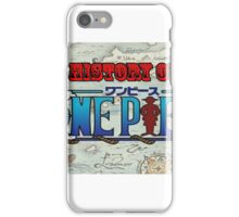 History Of One Piece Logo iPhone Case/Skin