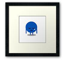 little sad blue ball Framed Print
