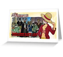 History Of One Piece: Romance Dawn Greeting Card