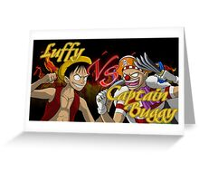 Luffy Vs. Captain Buggy  Greeting Card