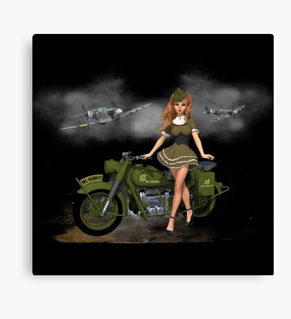 Spitfire Pin Up Art 2 Canvas Print