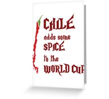 Chile Adds Spice Greeting Card