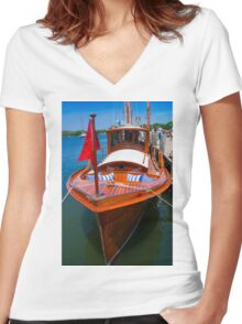 Fancy Cruiser Women's Fitted V-Neck T-Shirt