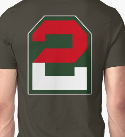 2, two, ARMY, US, USA, America, American, Second Army, 2nd Army, Shoulder Sleeve, Insignia. USA, America, American Unisex T-Shirt