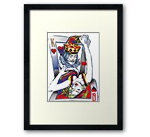 Dancing King and Queen Playing cards Framed Print