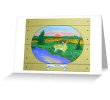 The Fawn , at Sunrise, Sunset Greeting Card