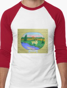 The Fawn , at Sunrise, Sunset Men's Baseball ¾ T-Shirt