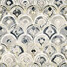 Monochrome Art Deco Marble Tiles by micklyn