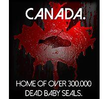 Anti-Fur Canadian Seal Hunters Photographic Print