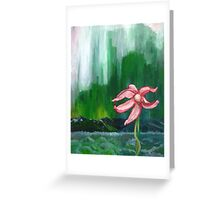 Bedraggled Pink Greeting Card
