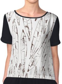 Outlines Watercolor Willow Leaves Chiffon Top