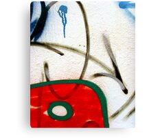 Abtag weighted red Canvas Print
