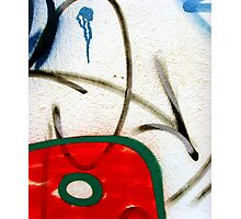 Abtag weighted red Photographic Print