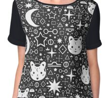 Alchemical Star Kittens Chiffon Top