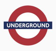 UNDERGROUND, TUBE, LONDON, ENGLAND, BRITISH, BRITAIN, UK Kids Tee