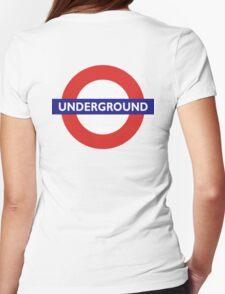 UNDERGROUND, TUBE, LONDON, GB, ENGLAND, BRITISH, BRITAIN, UK Womens Fitted T-Shirt