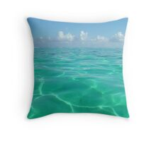 Turquoise Water, Polynesia Throw Pillow