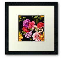 Bouquet of roses. Framed Print