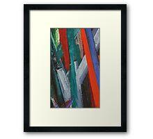 Brushstrokes Framed Print