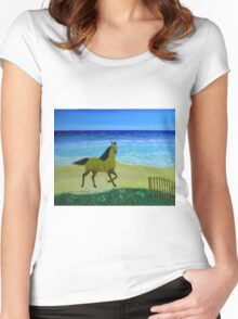 Feeling Free Horse Women's Fitted Scoop T-Shirt