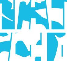 Shark Week Abstract Sticker