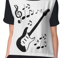 Rythmic Guitar Chiffon Top