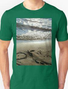 Sand beach heart T-Shirt