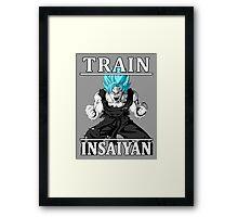 Train insaiyan god Framed Print