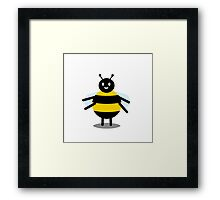funny friendly bumble bee Framed Print